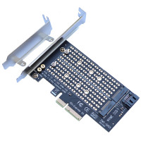 Адаптер PCI-E M2х2 + SATA III